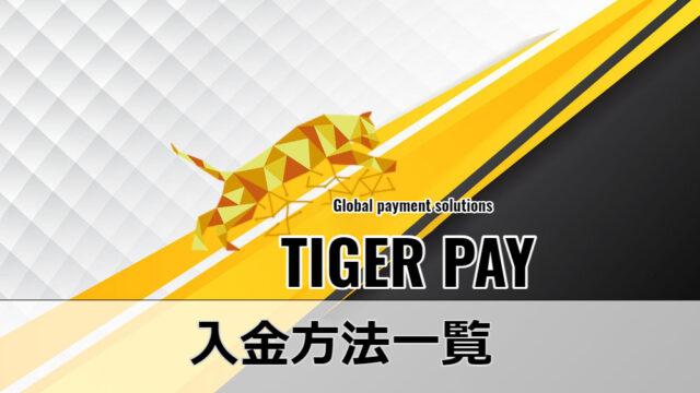 Tiger Pay 入金方法一覧