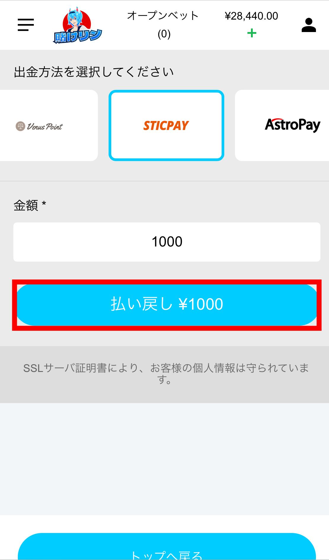 STICPAY出金-1